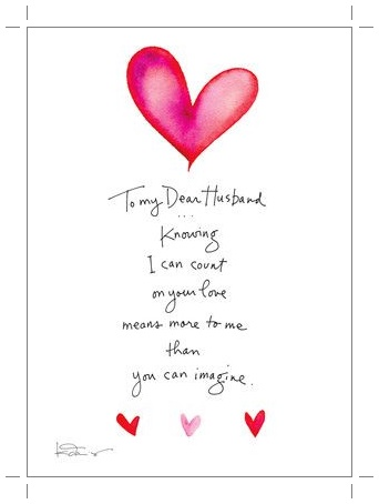 Romantic valentine's day cards for love