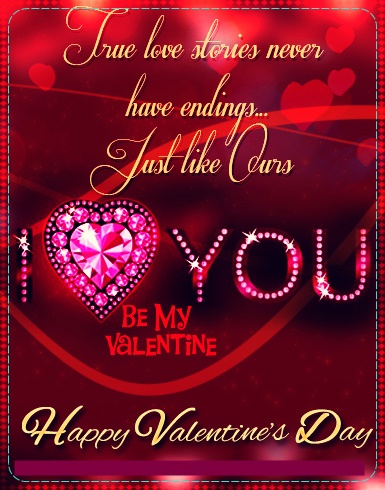 Romantic valentine's day cards for Husband